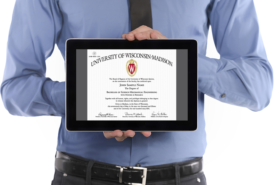 Image of tablet showing CeDiploma