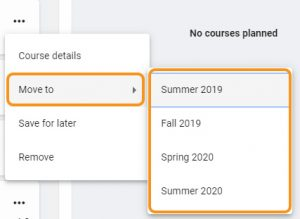 move a course using course menu