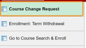 Course Change request