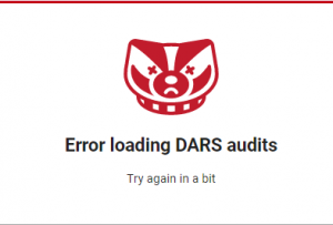 faculty-staff DARS error message